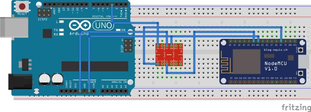 medium resolution of connecting nodemcu with arduino uno