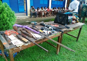 edo state parade of weapons