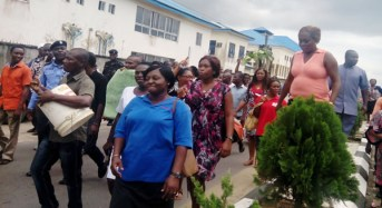 Hospital Workers Protest Eight Months Unpaid Salaries In Edo