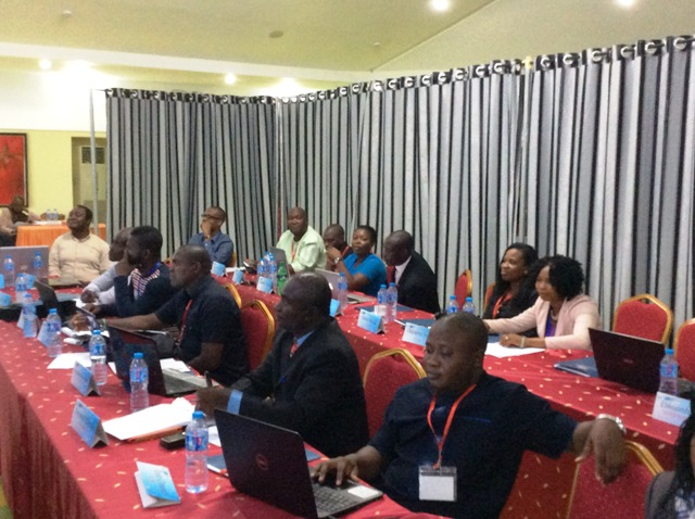 A cross section of reporters at the training