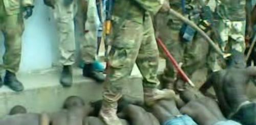 Sreening operation on 23 July 2013 in Bama, Nigeria (Amnesty International)