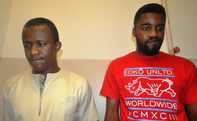 Chinedu Utaku (left) and Arize Ihekwo