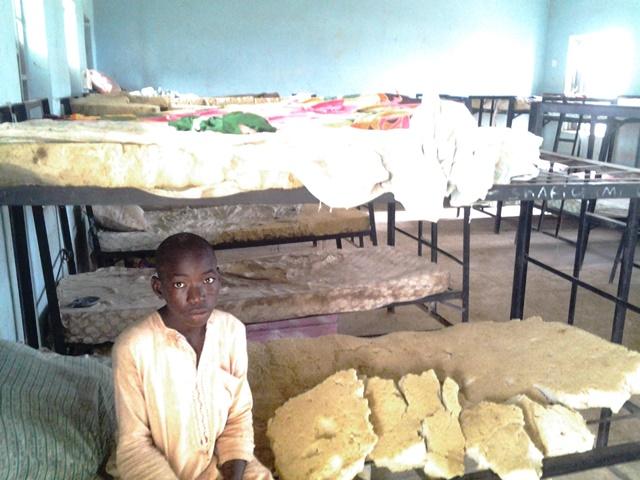 An Almajiri school hostel room in Sokoto