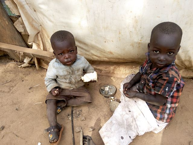 Children at an IDP camp
