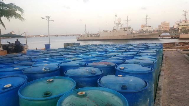 Illegal petroleum product dump