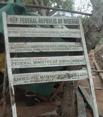 Ijebu Imusin project signpost