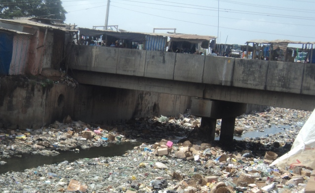 Refuse on ogunpa river