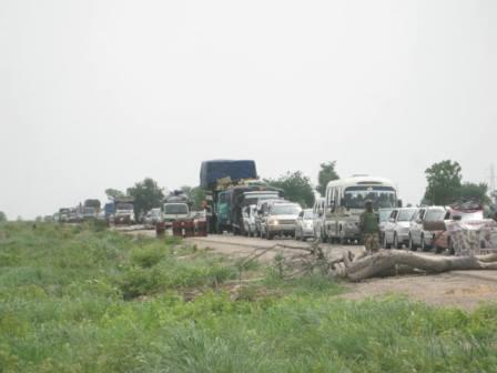 Vehicles now ply Maiduguri-Damboa Rd
