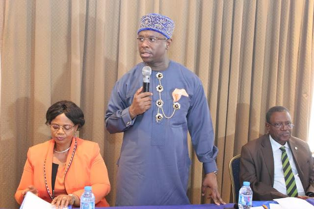 Head Marine Environment Management Department NIMASA, Susan Asagwara, Director General NIMASA, Dakuku Peterside and Chairman National Task Force for the Implementation of Ballast Water Convention, Babajide Alo