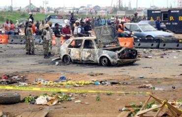 Scene of bomb blast in Nyanya in 2014