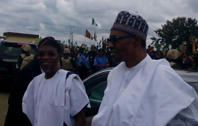 President Muhammadu Buhari and his host, Governor Rauf Aregbesola