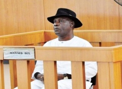 Godsday Orubebe inside the accused person's dock at the code of conduct tribunal