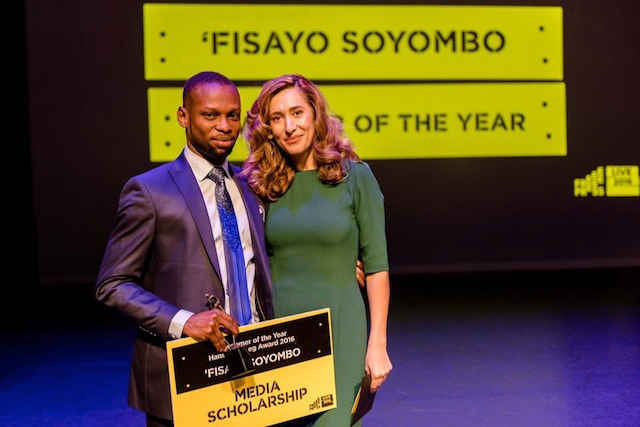Fisayo Soyombo at the Free Press Award