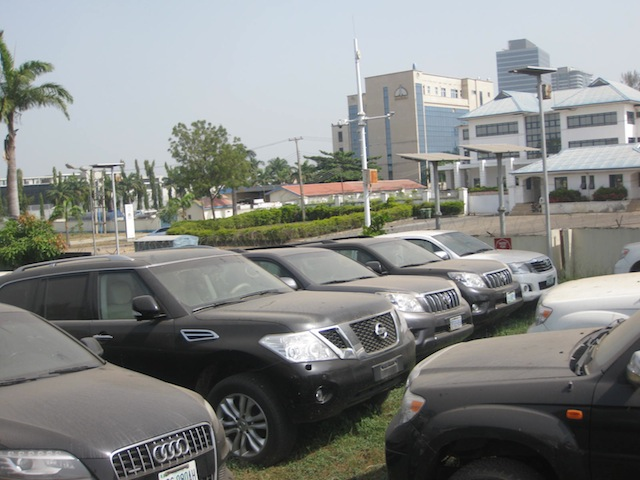A cross section of recovered luxury vehicles