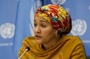 Former Minister of Environment, Amina Mohammed