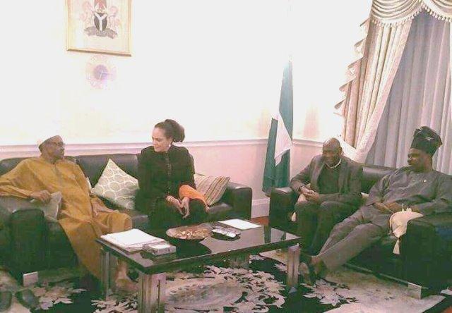 Ogun State Governor Visits Buhari In London