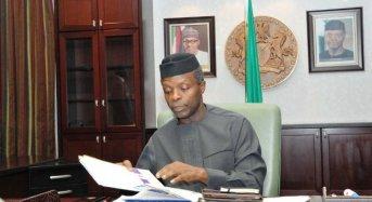 Acting President Osinbajo Signs Seven Bills Into Law