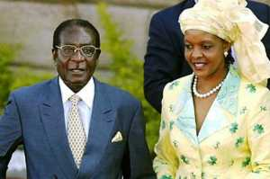 President of Zimbabwe, Robert Mugabe and wife, Grace