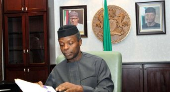 Acting President Osinbajo Receives 2017 Budget