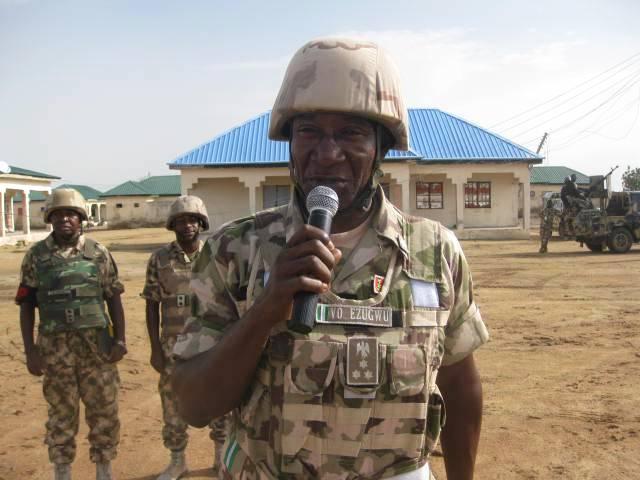 Outgoing GOC 7 Division, Nigerian Army, Victor Ezugwu