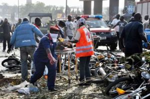File: Scene of the April 2014 Nyanya bomb blast: Photo credit: Bellanaija.com