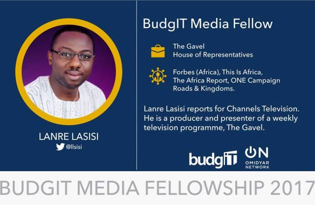 Six Journalists Win 2017 BudgIT Media Fellowship