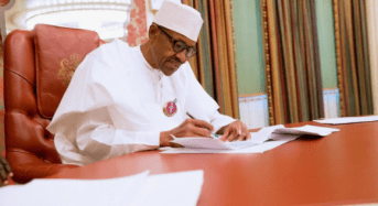 Ailing Buhari accepts anti-corruption assignment from AU