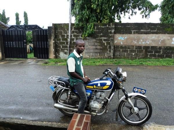 Drycleaner turns Okada rider