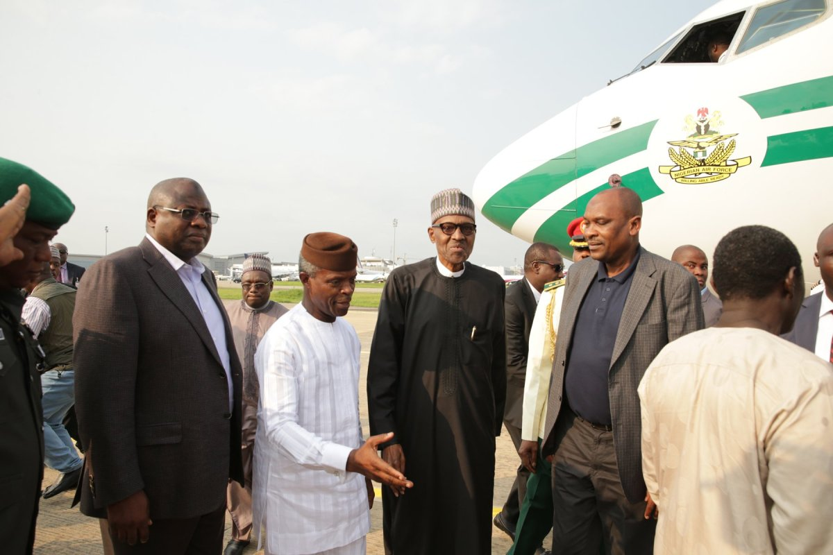 VIDEO: Buhari back in Aso Rock after returning from London