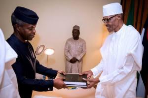 Osinbajo submits Lawal-Oke probe report to Buhari