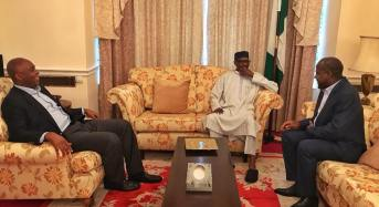 Saraki, Dogara visit Buhari in London