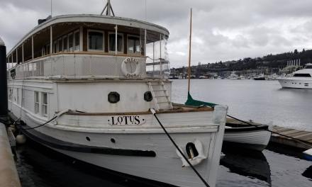 A unique hotel on Lake Union: Lotus boat