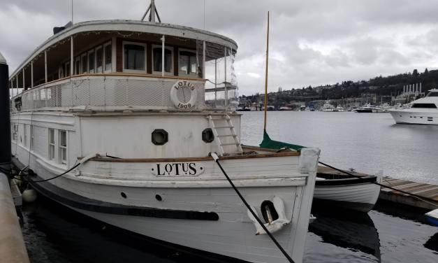 A unique hotel on Lake Union: Lotus boat