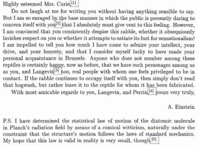 In 1911, Albert Einstein Told Marie Curie To Ignore The Trolls
