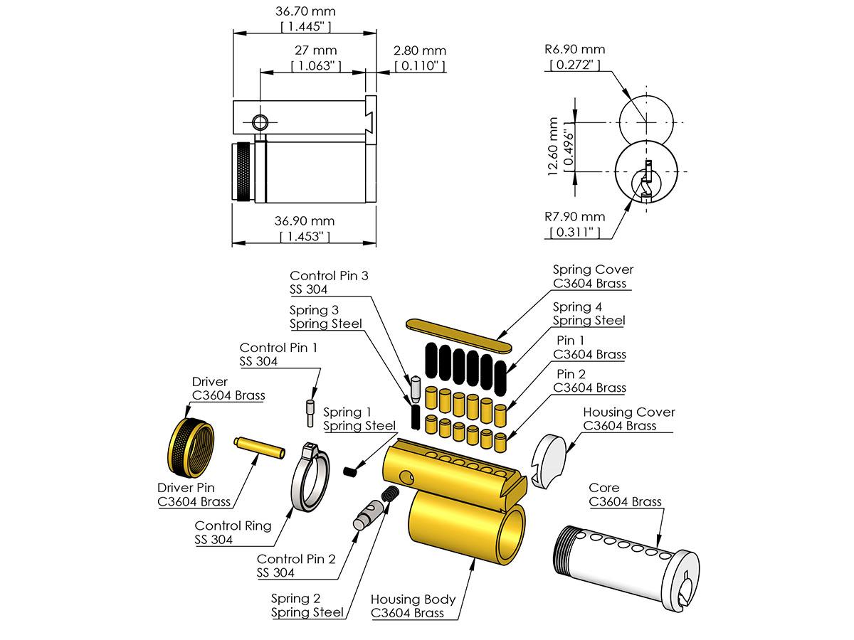 Large Format Interchangeable Core