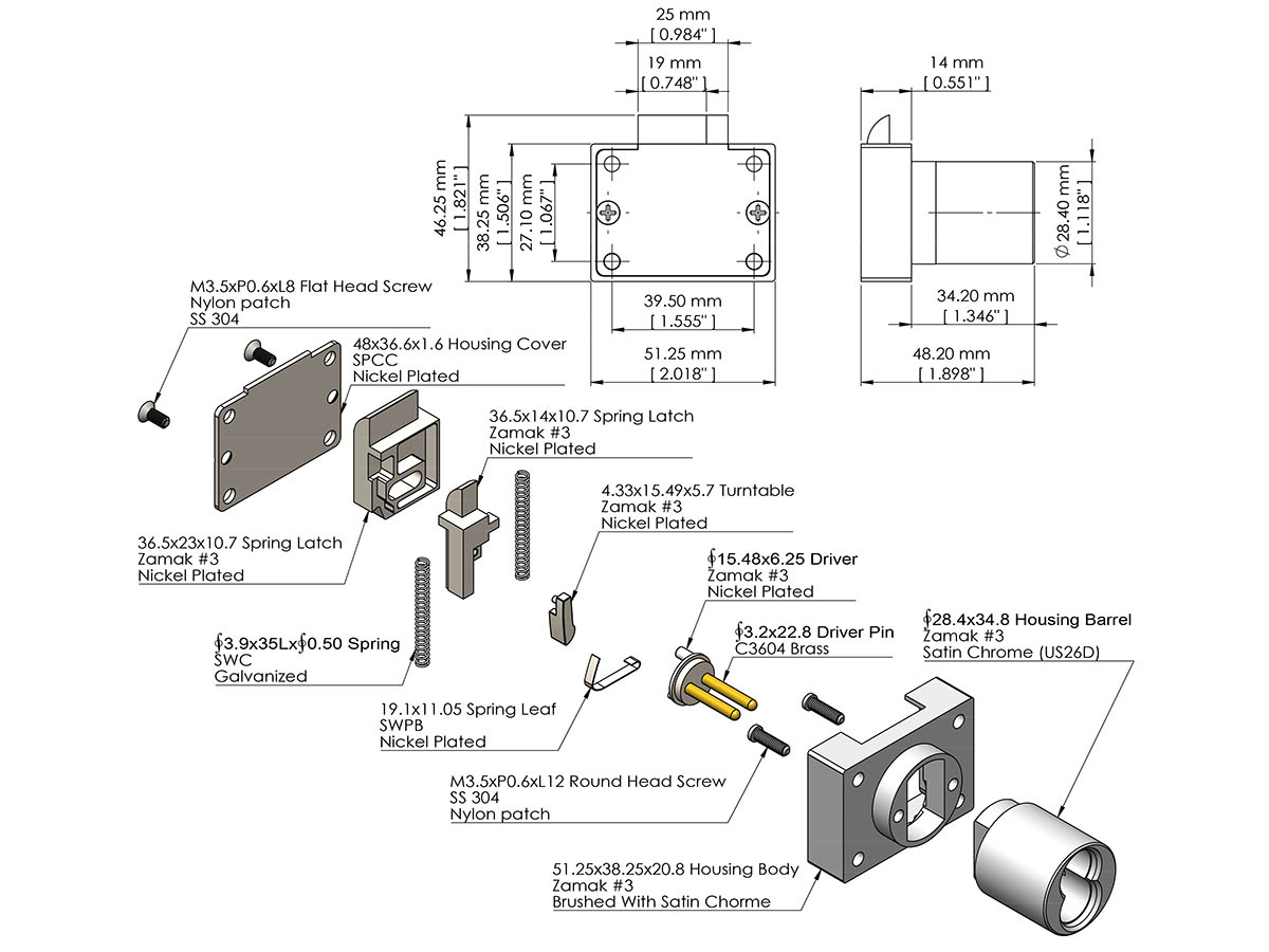 hight resolution of sfic cabinet deadlatch lock ick lock productsdeadlatch diagram 11