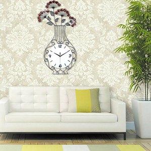 Đồng hồ treo tường bình hoa nghệ thuật