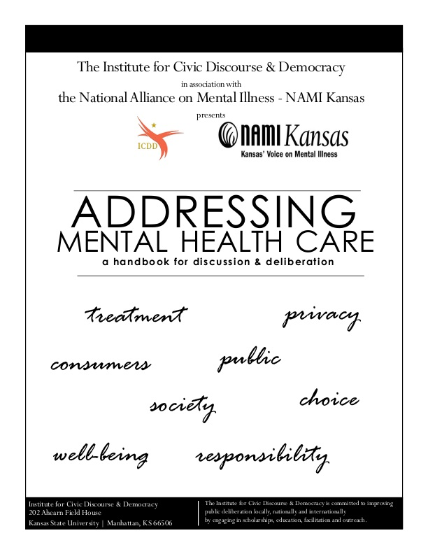 Addressing Mental Health Care: a handbook for discussion