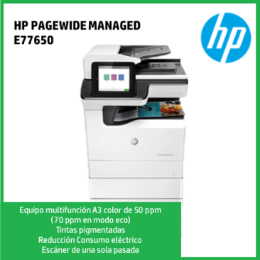 Pagewide managed E77650