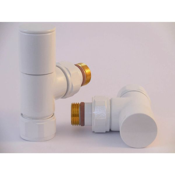 A1011 - Tuzio Regular Angle Valve (Pair) - White