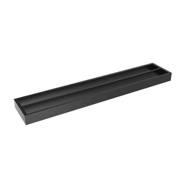 V1185 - Volkano Erupt Double Towel Bar - Matte Black