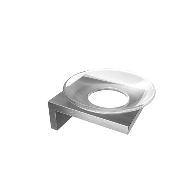 V1524 - Volkano Erupt Glass Soap Dish - Brushed Nickel