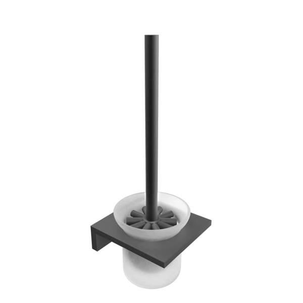 V1615 - Volkano Erupt Wall-Mounted Toilet Brush - Matte Black