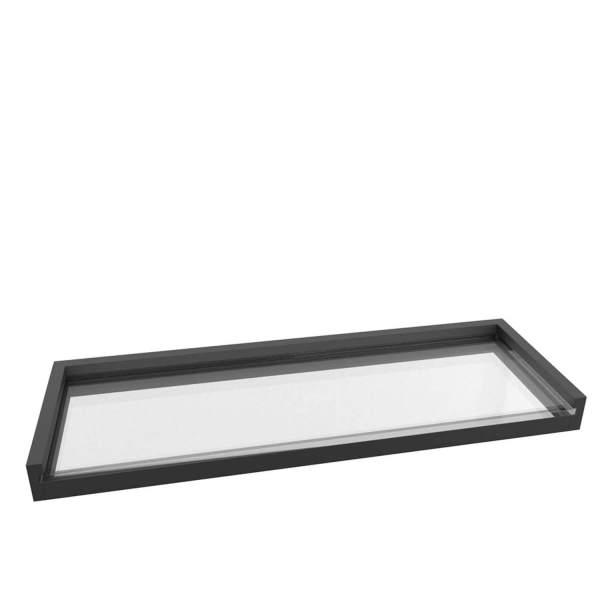V5765 - Volkano Fire Glass Shelf - Matte Black