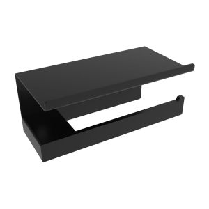 V3055 - Volkano Cinder Toilet Paper Holder with Shelf - Matte Black