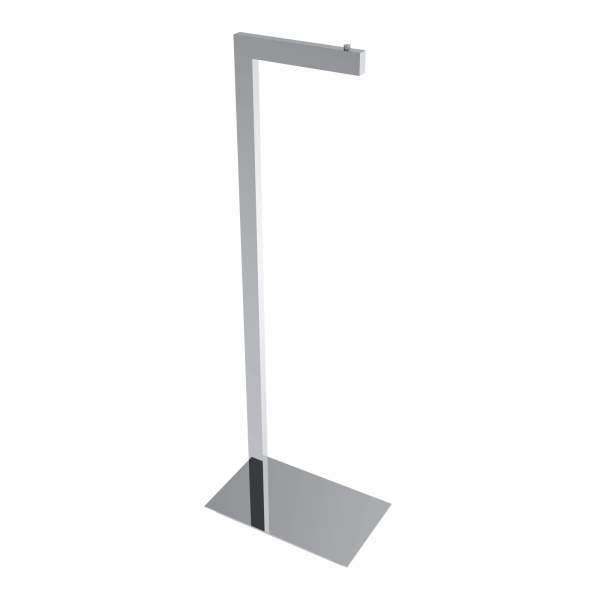 V91053 - square freestanding toilet paper holder - chrome