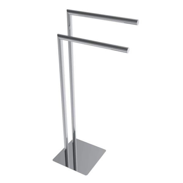 V91113 - round freestanding towel holder - chrome
