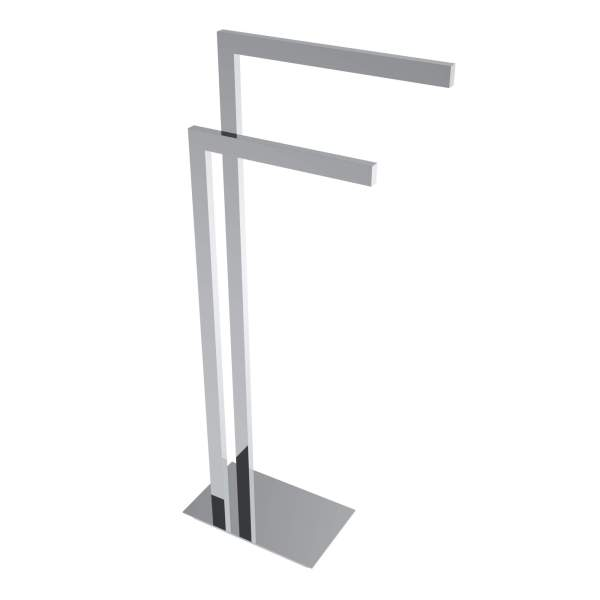 V91153 - square freestanding towel holder - chrome