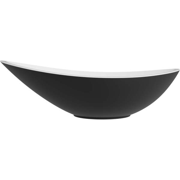 B8712 - Cavalli Vessel Sink - White Matte Black (2)
