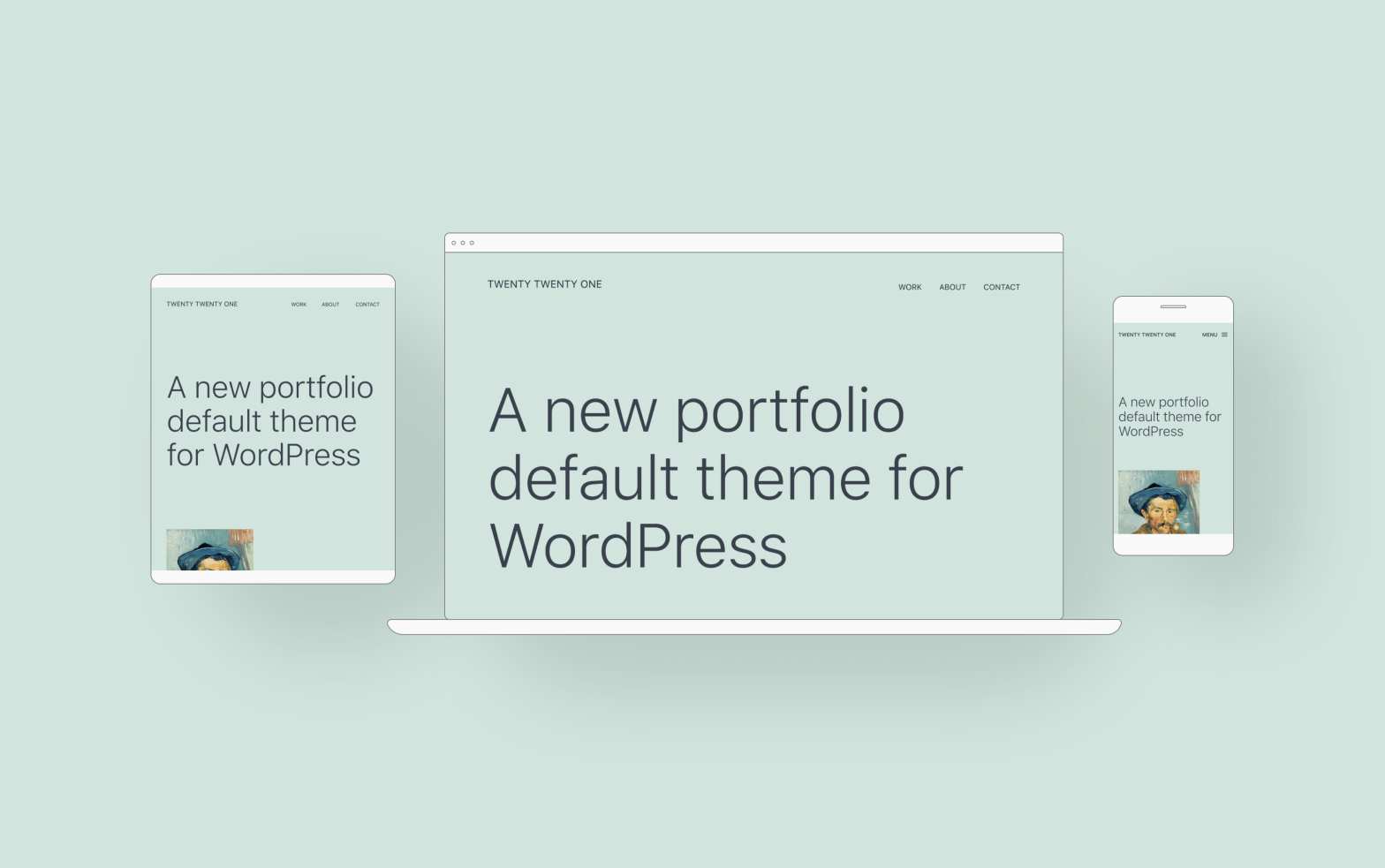 Device Mockups of the new WordPress default theme Twenty-Twenty-One